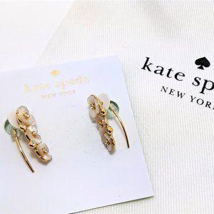 Kate Spade Disco Pansy Ear Pin Cream Multi
